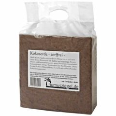 Humusziegel gepresste Kokoserde - 100% reines Naturprodukt