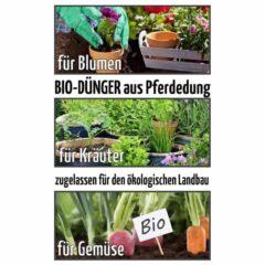 Organisches Düngemittel. Bio Dünger aus Pferdedung für Gemüse