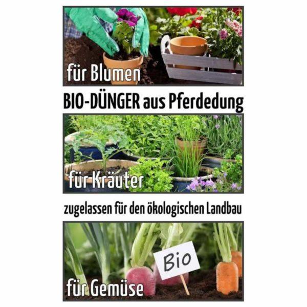 Ganz und zu Extrem HORSIT 10kg Biodünger Pellets aus Pferdedung. Bio Dünger. &HL_18