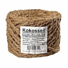50 m Kokosseil Baumanbinder Kokosgarn Dekoseil Kokos-Tau Braun - Reine Naturfaser